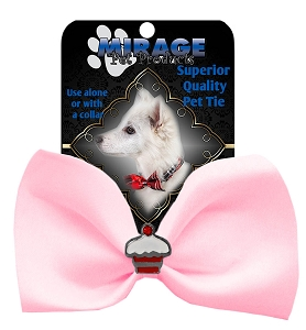 Cupcake Widget Pet Bowtie Light Pink